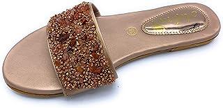 Ladies Indian Ethnic Flat, Flip Flop sandal, ADORA ASI404 Rose Gold