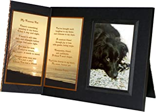 Pet Lover Remembrance Gift,My Forever Pet Poem, Memorial Pet Loss Picture Frame Keepsake and Sympathy Gift Package