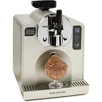 Nostalgia FDM1 Stainless Steel Easy-Dispensing Soft Serve & Frozen Dessert Machine, Makes 1 Quart of Ice Cream, Milkshakes, Frozen Yogurt, Gelato in Minutes, With LED Display