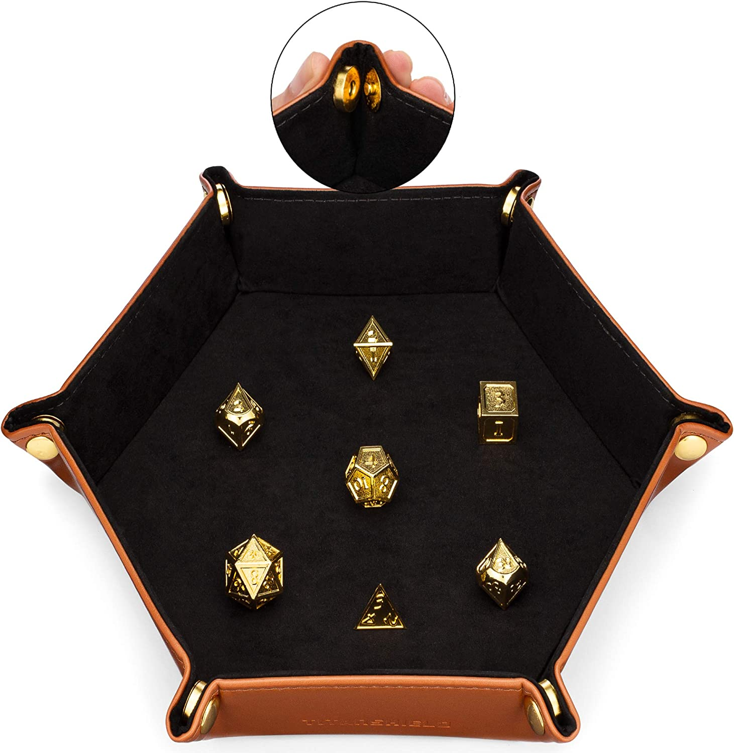 TITANSHIELD Premium Magnetic Dice Tray for Rolling - Suitable for Metal Dice, RPG, DND, Table Games