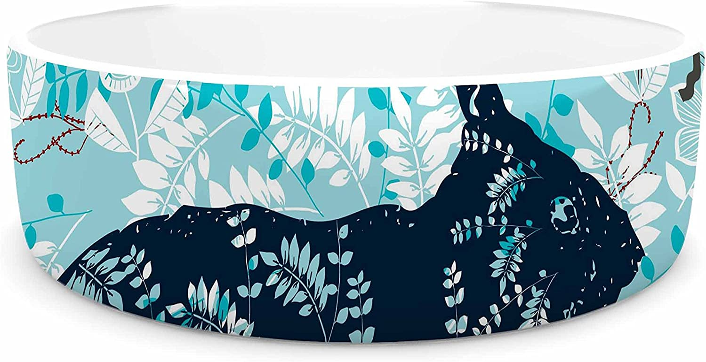 KESS InHouse Famenxt Bunny In The Jungle  bluee Animals Pet Bowl, 7