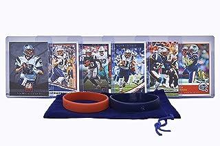 New England Patriots Cards: Tom Brady, Rob Gronkowski, James White, Julian Edelman, Devin McCourty, Josh Gordon ASSORTED Trading Cards and Wristbands Bundle