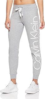 Calvin Klein Women's Rib Trim Logo Fleece Pants