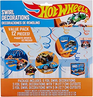Hot Wheels Wild Racer Foil Swirl Value Pack Decorations, Party Favor