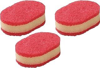 ラバーゼ la base 有元葉子 スポンジ 3個セット 赤×白 日本製 燕三条 ELM-9681