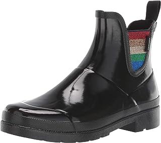حذاء المطر Lina2 للسيدات من TRETORN, (أسود/قوس قزح), 37 EU
