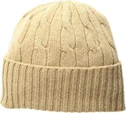 Cashmere Classic Cable Hat