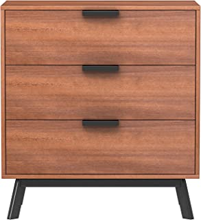 Mainstays Mid Century Modern 3 Drawers Chest in Vintage Umber Finish