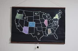 Best chalkboard us map Reviews