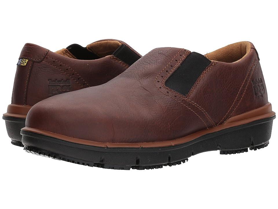 Timberland PRO Boldon Slip-On Alloy Safety Toe SD (Brown Full Grain Leather) Men