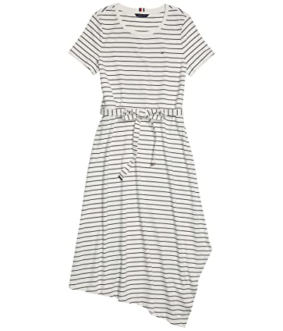 Tommy Hilfiger Adaptive Naomi Asymmetrical Short Sleeve Dress with Wide Neck Opening Women
