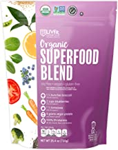 LIVfit Superfood Organic Superfood Blend Powder 720 Gram, 6g of Vegan Protein per Serving, Add to Morning Smoothies Fruit Shakes or Juices, Vegan, Soy- Gluten-Free