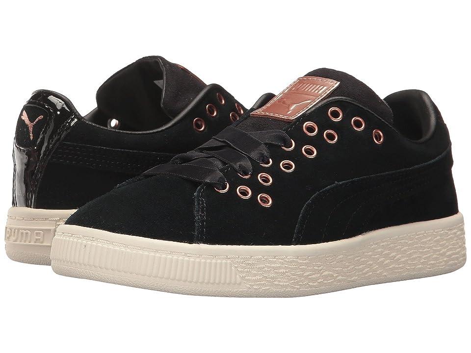 Puma Kids Suede XL Lace VR (Little Kid/Big Kid) (Puma Black/Puma Black) Girls Shoes