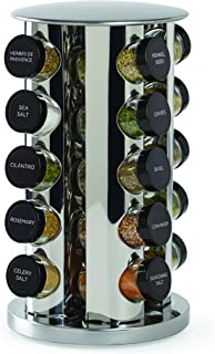 Kamenstein 30020 Revolving 20-Jar Countertop Spice Rack Tower Organizer with Free Spice..