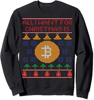 Funny Ugly Christmas Bitcoin T-Shirt Sweatshirt
