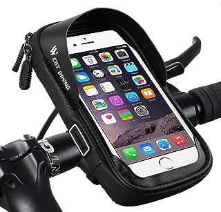Hospaop Fahrrad Rahmentasche Wasserdicht Fahrradtasche Lenkertasche Handyhalterung Handyhalter Handytasche mit Sonnenblende Kopfh/örerloch TPU Touchscreen f/ür Smartphone unter 6,0 Zoll