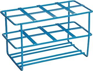 Heathrow Scientific HD232461 Steel Epoxy-Coated 8-Well Wire Racks for 50mL Tubes, Blue