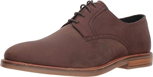 Ben Sherman Hommes's Birk Plain Toe Oxford, marron Leather, 10.5 M US