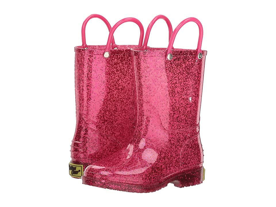 Western Chief Kids Glitter Rain Boots (Toddler/Little Kid) (Pink) Girls Shoes