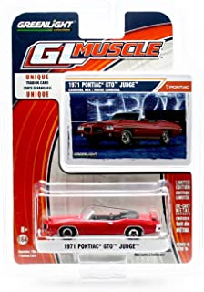 GL Muscle 1971 Pontiac GTO Judge Convertible (Cardinal Red) Series 15 Greenlight Collectibles 2016 Limited Edition 1:64 Scale Die-Cast Vehicle & Collector Trading Card