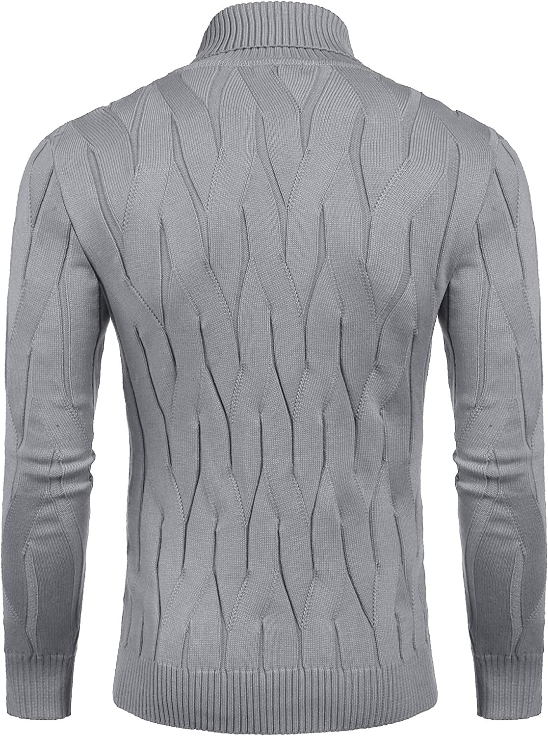 COOFANDY Men's Slim Fit Turtleneck Sweater Casual Knitted Pullover Sweaters