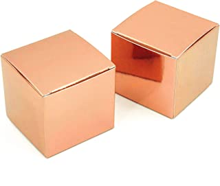 Rose Gold Wedding Bachelorette Party Favors Boxes Decorations Small Bridal Shower Party Candy Treat Gift Boxes Baby Shower Birthday Party Favors Boxes Supplies, 50Ct