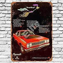 Ellis 1968 Plymouth Road Runner - Placa de Metal para decoración de Pared, diseño Retro