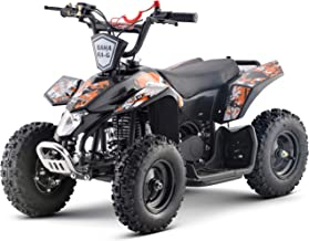 Superrio Kids ATV Sahara 40cc Gas Powered Kids ATV Kids 4 Wheelers Kids Quads, Speed Limiter and Kill Switch (Orange)