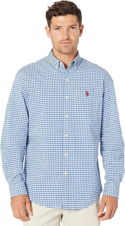 U.S. Polo Assn. Long Seeve Dobby Plaid Woven Shirt