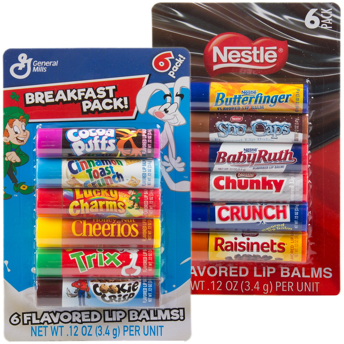 12pc Candy Flavored Challenge the lowest price of Japan ☆ Lip Balm Assorted Breakfast P Super popular specialty store Gloss Flavors