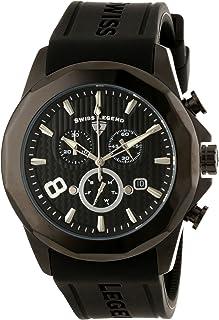 Men's 10042-BB-01 Monte Carlo Chronograph Black Textured Dial Black Silicone Watch