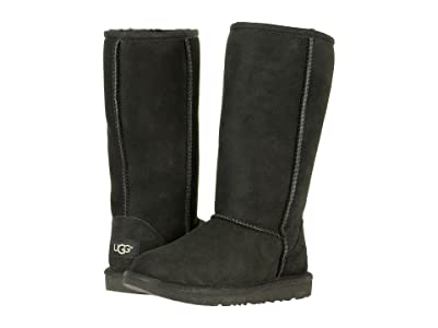 UGG Kids Classic Tall II (Little Kid/Big Kid) (Black) Girls Shoes