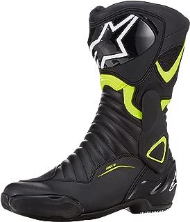 Alpinestars SMX-6 V2 Black Yellow Fluo Motorcycle Boots, SMX 6 V 2