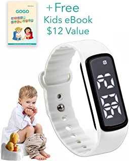 GOGO Potty Training Watch - Water Resistant Timer and Child Reminder- Toilet Trainer Alarm Watches for Boys, Girls, Kids and Toddlers with a Soft White Strap and Adjustable Alerts