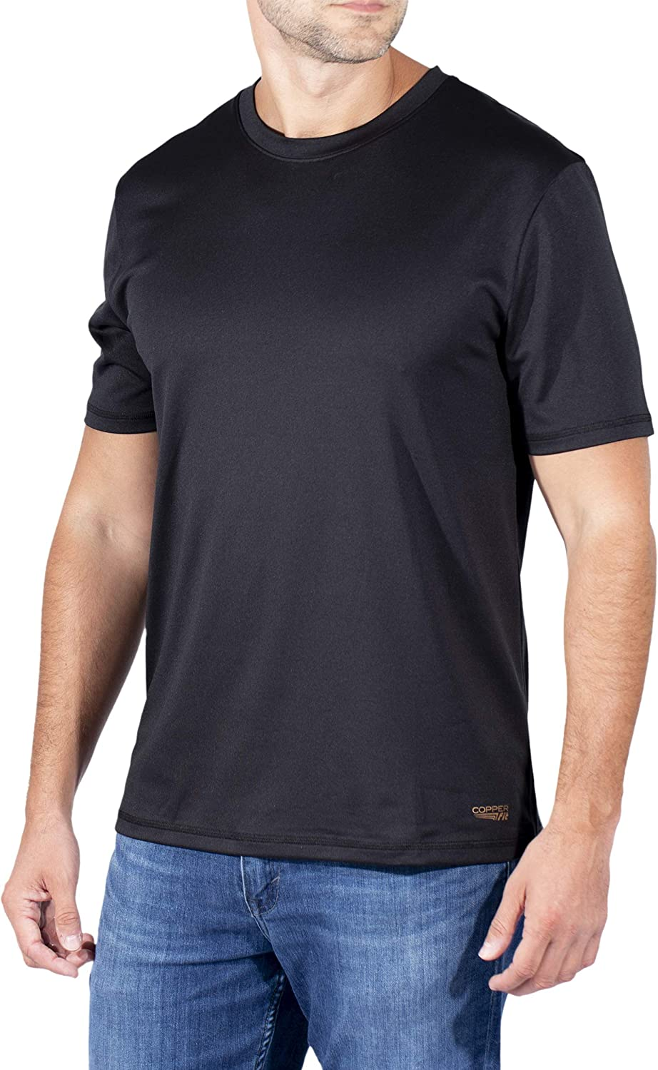 Copper Fit Energy Mens NEW Charlotte Mall Performance Crew T-Shirt Dry