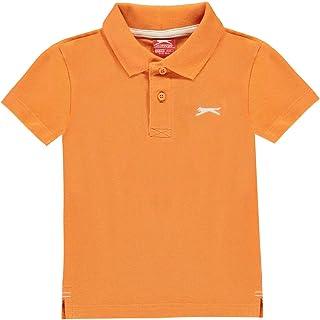 Slazenger Kids Plain Polo Shirt T Shirt Tee Top Casual Infant Boys Short Sleeve