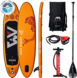 comprar comparacion Aqua Marina Fusion-All-Around iSUP, 3.15m/15cm, with Paddle and Safety Leash, Adultos Unisex, Orange, Uni