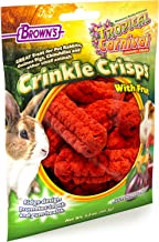 F.M. Brown's Tropical Carnival Crinkle Crisps with Fruit, 1.5-oz Bag - Gluten Free Small Animal Treats with Dental Ridges ...