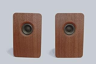 宗七音響 model 216 デスクトップパッシブスピーカー(ウォルナット) 2台1組 総無垢材 オイル仕上げ デンマーク Scan Speak社製ドライバー搭載 オリジナルスピーカーケーブル付き