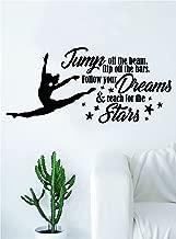 Reach for the Stars Quote Decal Sticker Bedroom Living Room Wall Vinyl Art Home Decor Teen Nursery Girls Dance Ballet Leap Gym Gymnist Gymnastics