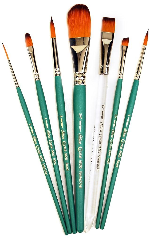 Silver Brush CY-6807S Crystal Short Handle Brush Set, 7 Per Pack