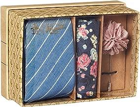 Original Penguin Men's 3-Piece Pattern Tie, Pocket Square & Lapel Pin Box