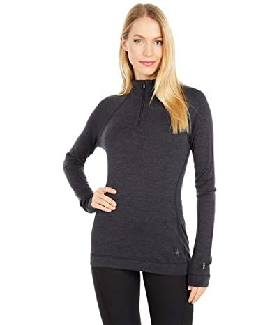 Smartwool Merino 250 Base Layer 1/4 Zip (Charcoal Heather) Women