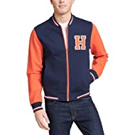 Men's Retro Varsity Bomber Colorblock Track Jacket