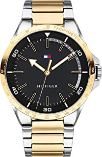 Tommy Hilfiger Men's Stainless Steel Quartz Watch Two Tone Strap, 15 (Model: 1791543)