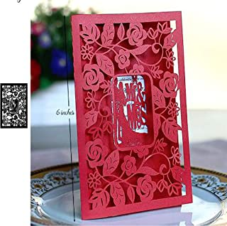 Rose Frame Craft Dies Leaves Background Cutting Dies,Letmefun Metal Cutting Dies Stencils New 2019 for Card Making Scrapbooking Wedding Decorative