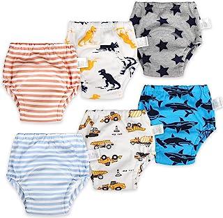 6 Packs Cotton Training Pants Reusable Toddler Potty...