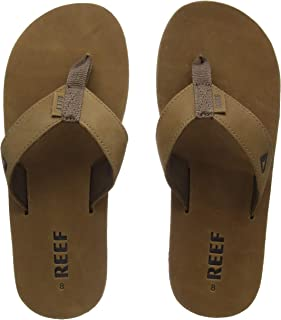 Reef Leather Smoothy Flip Flops for Men