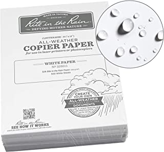 "Rite in the Rain Weatherproof Bulk Copier Paper, 8 1/2"" x 11"", 32# White, 500 Sheet Pack (No. 328511)"
