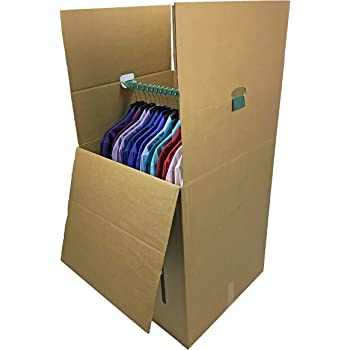 """uBoxes Shorty Wardrobe Moving Boxes (1 Piece) 20"""" x 20"""" x 34"""" Moving Boxes"""